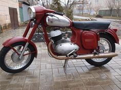 JAWA 350/360 1974 г.в Jawa 350, Retro Cars, Scooters, Motorbikes, Motorcycles, Cherry, Vehicles, Old Motorcycles, Flare Leg Jeans