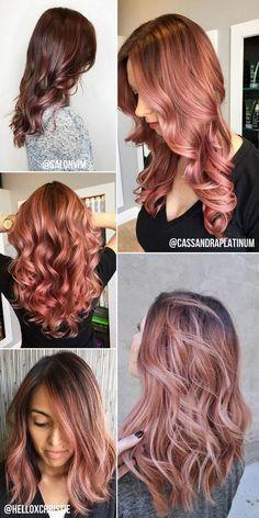 Depois do tão copiado e amado platinado acinzentado, a cor queridinha da temporada para os cabelos é o Rose Gold (ouro rosé). O loiro rosé ...