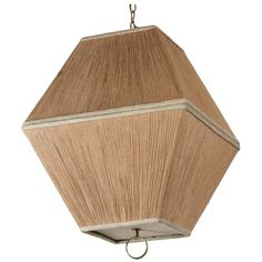 String Shaded Lantern Style Chandelier or Pendant   From a unique collection of antique and modern chandeliers and pendants at https://www.1stdibs.com/furniture/lighting/chandeliers-pendant-lights/