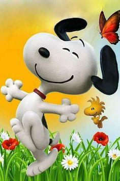 """Don't worry...Be Happy"" - Snoopy Snowman, Snoopy, Snowmen"