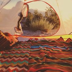 Turning a tent into a home #camping