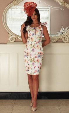 Charlotte Frill Sleeve Dress - Lady VB