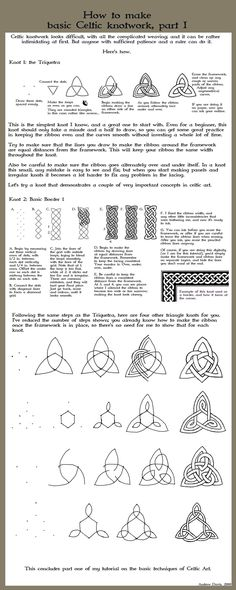 "celtic knotwork & design ""tutorial 1"" : beautifully laid out resource {Andrew Davis / Dweran, deviantART}"