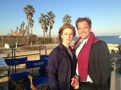 Diane Neal and Michael Weatherly from her twitter account. Doesn't MW look like Robert Wagner in this pic?