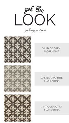 GET THE LOOK! Patterned floor tiles to give personality to any space. Palazzo Deco tiles by Bedrosians Tile & Stone