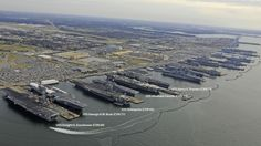 Naval Station Norfolk in Norfolk, Virginia. Norfolk Naval Base tours information. Pearl Harbor, Naval Station Norfolk, Uss Enterprise Cvn 65, Go Navy, Navy Base, Norfolk Virginia, Us Navy Ships, Aircraft Carrier, Water Crafts