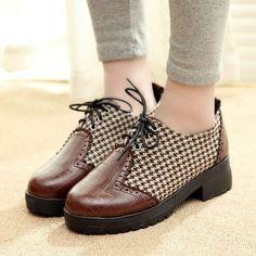 2014 Sapatos De Plataforma Para A Mulher Sapatos Oxford