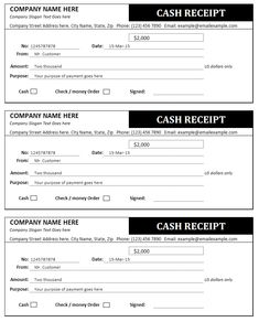 free printable cash receipt form pdf from vertex42 com home care