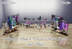My Sims 4 Blog: Liberated TS4 Dresses with Rack and Shoes by Sim4F...