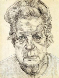 The artist's mother - Lucian Freud