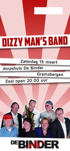 Entreekaart Dizzy Man's Band in MFC de Binder.