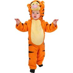 Our infant Tigger costume is T-I-double-Great! This cute baby Tigger outfit is just what you need for great family pictures this Halloween. For a cute sibling costume idea try any of our other fun Win