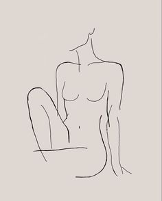 Minimalist Drawing, Minimalist Art, Art Drawings Sketches, Easy Drawings, Image Psychedelic, Outline Art, Tattoo Outline Drawing, Outline Drawings, Tattoo Drawings