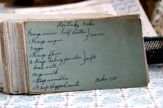 A classic vintage recipe from the files - Kentucky Cake