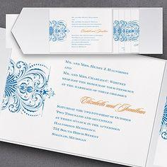 Avant Garde Pocket Invitation - Wedding Invitation Ideas - Wedding Invites - Wedding Invitations - Create a FREE Proof Online - Order Sample Invitations #weddings #wedding #invitations