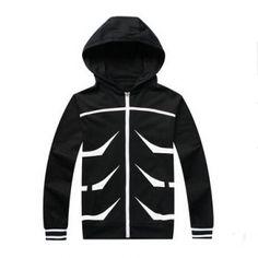 Tokyo Ghoul Kaneki Ken zip up hoodies for men Japanese Anime cosplay costumes