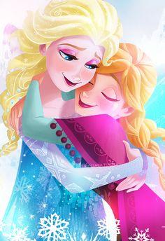my love sis lol frozen Frozen Disney, Princesa Disney Frozen, Frozen Art, Film Disney, Arte Disney, Disney Magic, Disney Princess Art, Disney Fan Art, Disney Love