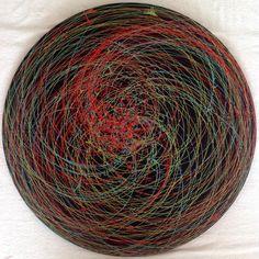 Emin Özdemir — Rotational oscillation, acrylic paint, 102 cm. in... Fractals, Mandala, Digital Art, Rugs, Handmade, Painting, Home Decor, Farmhouse Rugs, Hand Made