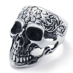 KONOV Jewelry Vintage Gothic Skull Biker Stainless Steel Mens Ring, Black Silver (Available in Size 8, 9, 10, 11, 12, 13) KONOV Jewelry. $8.99. Available sizes: 8,9,10,11,12,13,14. Color: Black & Silver. Width: 35mm. Material: Stainless Steel