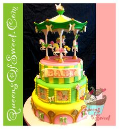 Carousel-Cake for a Baby Shower
