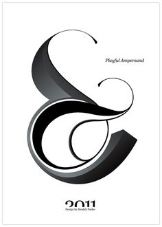 #Playful #Ampersand. #Moshik Nadav #Typography. #ampersands #experimental #typography #typo #font #fonts #type #fashion #sleek #outline #silhouette #graphic #art #3D #dimension #black #white #grey #white