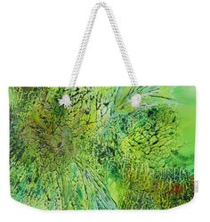 Abstract Art - The colors of Spring Weekender Tote Bag by Sabina Von Arx Weekender Tote, Tote Bag, Beach Towel Bag, Green Bathroom Decor, The Colour Of Spring, Basic Colors, Colour Images, Bag Sale, Color Show