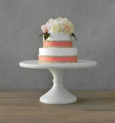 14 Or 16 Inch With A Larger Base Wedding Cake Stand Birthday Bridal Shower Baby Event Decor Display Bling Party