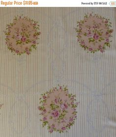 BLACK FRIDAY SALE Rococo & Sweet~Pink Roses~Shabby Chic Floral~Cotton Fabric, Quilt~Lecien~Fast Shipping F601
