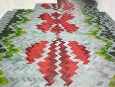 Technicolor Parquet Flooring