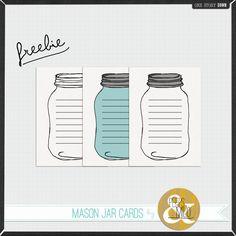 Mason Jar Cards Freebie Tags Pot Projects