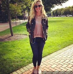 Students on campus show off their style on their way to class. Photo of Casey Griffin from @UDress Magazine