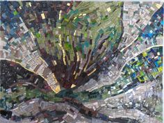 Landschaft - Landscape made by www.mozayiko.eu Workshop, Burgundy, Creative, Holiday, Painting, Self, Atelier, Mosaics, France