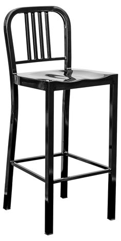 Navy Metal Bar Chair