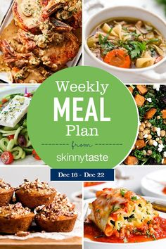 A free flexible weight loss meal plan including breakfast, lunch and dinner and a shopping list. All recipes include calories and updated WW Smart Points. Meal Plan I can't believe that next week is Stuffed Pepper Soup, Stuffed Peppers, Spinach Lasagna Rolls, Cooking Recipes, Healthy Recipes, Delicious Recipes, Food Tasting, Le Diner, Partys