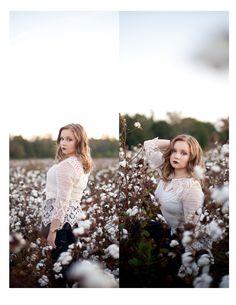 Senior Portraits with Southern Cotton Photography. #southerncottonphotography #alabamaphotographer #cottonfields #seniorsessions