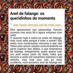 Você já visitou o nosso blog?!?! O assunto dessa semana são os anéis de Falange.  Estamos esperando sua visita  Cassieacessorios.blogspot.com.br  Deixe o seu comentário!! ▃▃▃▃▃▃▃▃▃▃▃▃▃▃▃▃▃▃▃▃▃▃▃▃▃▃▃ #Cassie #semijoias #acessórios #folheadoaouro #folheado #love #instasemijoias #instajoias #fashion #lookdodia #dourado #tendências #banhadoaouro #lindassemijoias #semijoia #Blogger #instablog #anéis #aneldefalange #anel #anelfolheado