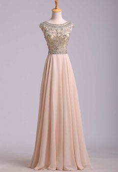 Prom Dress For Teens, 2019 Prom Dress Scoop A Line Floor Length Beaded Tulle Bodice With Chiffon Skirt, cheap prom dresses, beautiful dresses for prom. Best prom gowns online to make you the spotlight for special occasions. Grad Dresses, Dance Dresses, Homecoming Dresses, Dresses Uk, Dresses 2016, Vintage Prom Dresses, Prom Dresses Long Modest, Short Sleeve Prom Dresses, Long Prom Gowns