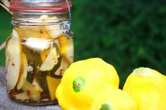 Pattypan pickles - I love these cuties but never had a really good use for all that a couple of hills get ya.