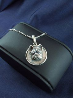 Sterling Bulldog Pendant silver animal rare bulldog
