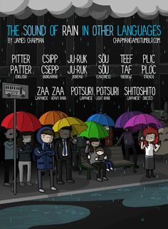 What Rain Sounds Like In Different Languages - DesignTAXI.com