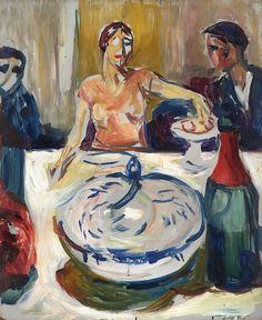 "terminusantequem: ""Edvard Munch (Norwegian, 1863-1944), The Wedding of the Bohemian, 1925-30. Oil on mahoganyboard, 55,2 x 45,5 cm """