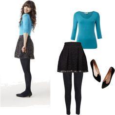 Zooey Deschanel style :)  New Girl - I might be able to pull this off in winter