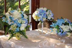 blue wedding reception
