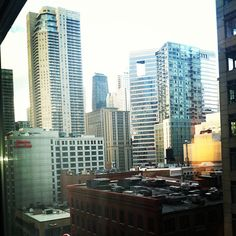 View from Hubbard and Dearborn one of my fav corners of River North right now