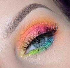 best eye makeup looks - . - up Best eye makeup looks – – - make up rainbow Makeup Eye Looks, Eye Makeup Art, Crazy Makeup, Cute Makeup, Eyeshadow Makeup, Clown Makeup, Spring Eye Makeup, Witch Makeup, Unicorn Makeup