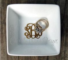 Monogram Ring Dish by OhMyWordDesigns on Etsy