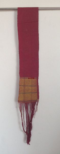 Fine Antiques & Art from WOVENSOULS - Singapore  741 Antique Myanmar Aso Chin Woven Belt Textile  Antique Myanmar Aso Chin People Textile - Woven Waist Belt Sash Narrow band with decorated ends. The weaving is so ingenious that the design is invisible on the back! Estimated to be from the early - mid 1900s   #Asian #antique #fabric #vintage #textiles #cultural #cloth #handmade #art #traditional #MYANMAR #SouthEastAsiaTextile