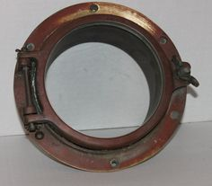 Thank you for viewing our store    We have for sale a Vintage Antique Brass Boat Porthole Window, Ship Porthole.  This is the real deal, not a