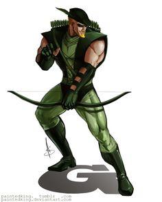 Green Arrow / Oliver Queen by asphillipsart