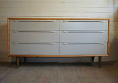 credenza - gray and wood